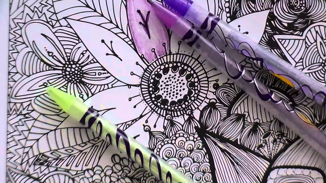 Adult Coloring Books And Crayola Twisted Colored Pencils REVIEW