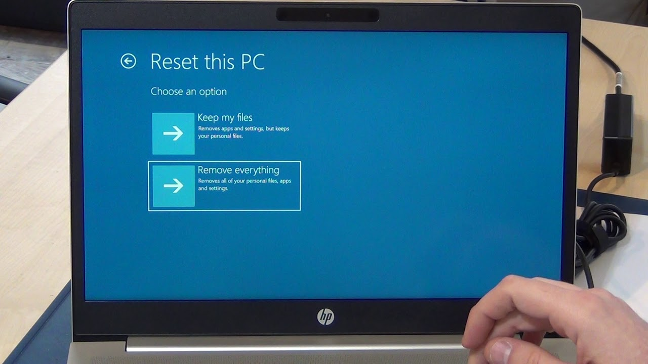 HP Recovery - How to reset HP Probook