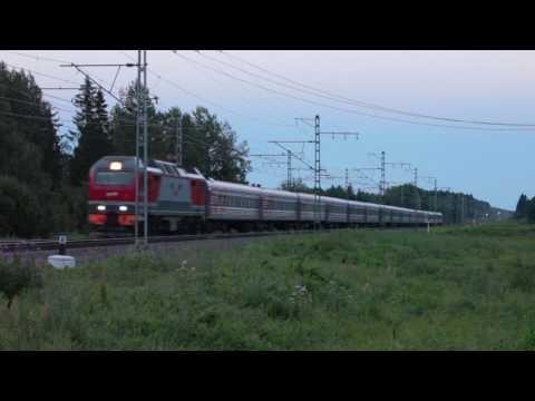 "[RZD] EP2K locomotives and EVS1 ""Sapsan"" high-speed train"