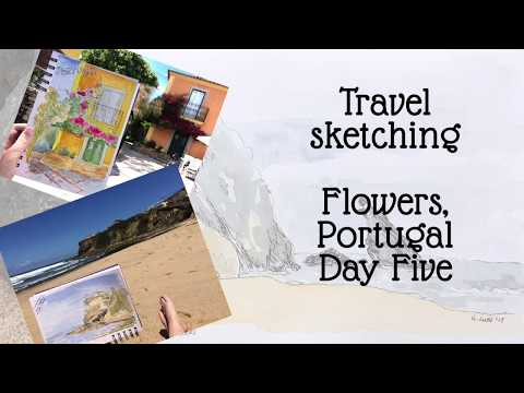 Sketching Portugal - day 5, Flowers