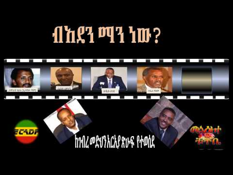 Who is Amhara National Democratic Movement (ANDM) -- part3