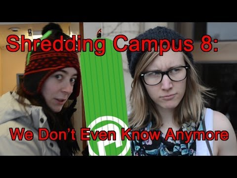 Shredding Campus 8: White Girl Twerks in Booty Shorts in the Middle of Winter