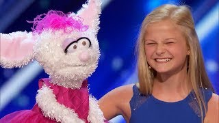 12-Year-Old VENTRILOQUIST Kills It On America's Got Talent! | What's Trending Now!