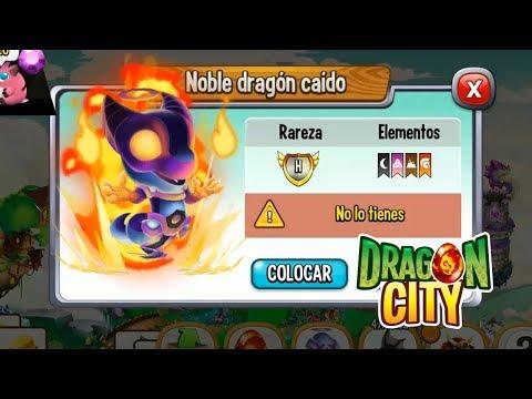 MI NUEVO DRAGON NOBLE DRAGON CAIDO - Dragon City