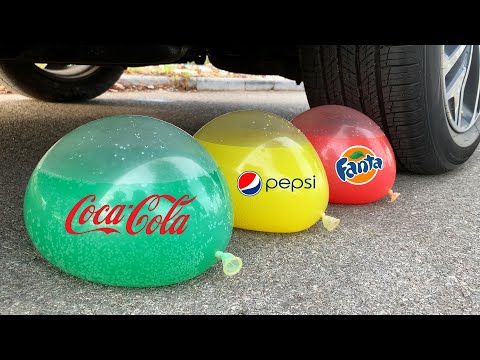 Experiment Car vs Cola, Mtn Dew, Fanta, Pepsi, Fruko| Crushing Crunchy & Soft Things by Car | Test S