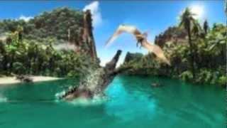 Tylosaurus vs. Deinosuchus (German + Anmerkungen aktivieren!)