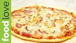 ИТАЛЬЯНСКАЯ ПИЦЦА. Тесто для пиццы как в пиццерии за 10 минут. Пошаговый рецепт | Ужин | FoodLove