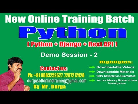 Python Tutorials ||  Python Introduction and Application Areas || Demo Session - 2|| by Durga Sir thumbnail