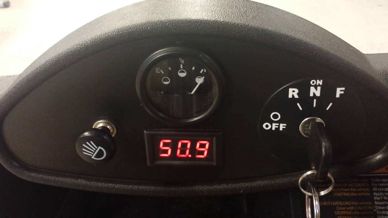 2011 Ezgo Rxv Real Time Voltage Dash Display Youtube