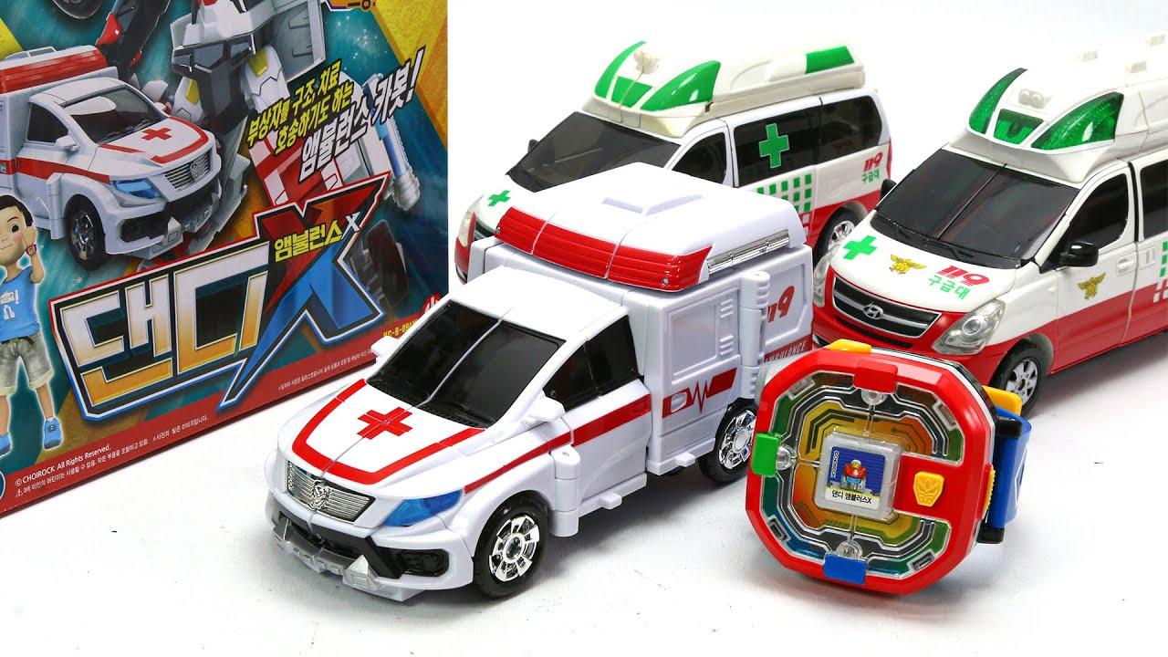 Hello Carbot Season 9 Pentastorm X Dandy Ambulance X Cube Watch Vehicles Car Robot Toys