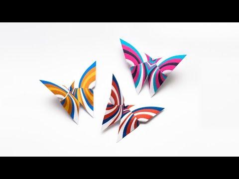 การพับกระดาษเป็นผีเสื้อแบบง่ายๆ Easy Origami Butterfly