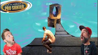I SKATED A CRAZY RAMP INTO A TINY HOLE! / Tony Hawk Pro Skater