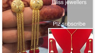 Latest gold earrings||chain designs