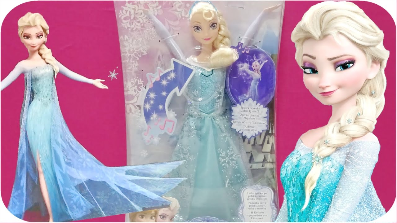 disney prensesi frozen sarki soyleyen elsa yeni karlar ulkesi elsa oyuncak bebek