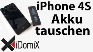 Apple iPhone 4S Akku tauschen / wechseln [ Deutsch / German ]