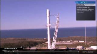 SpaceX Successful Launch & Drone Landing of Falcon 9 Iridium-1 Mission (2017-01-14) [Full HD]