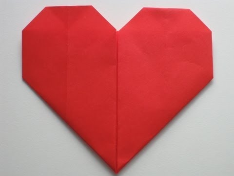 Origami How To: Letter Fold Heart - YouTube | 360x480