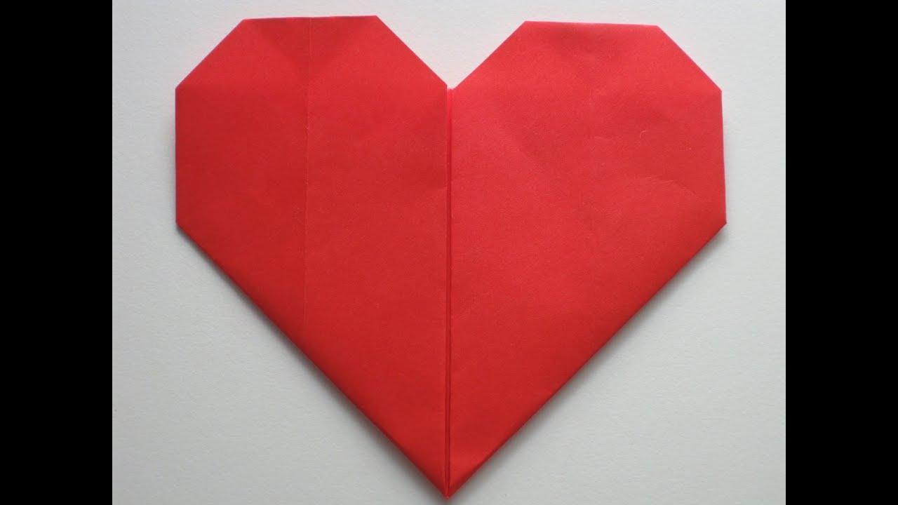 Easy Origami Heart - YouTube - photo#5