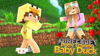 Minecraft - LITTLE KELLY POTTY TRAINS BABY DUCK!