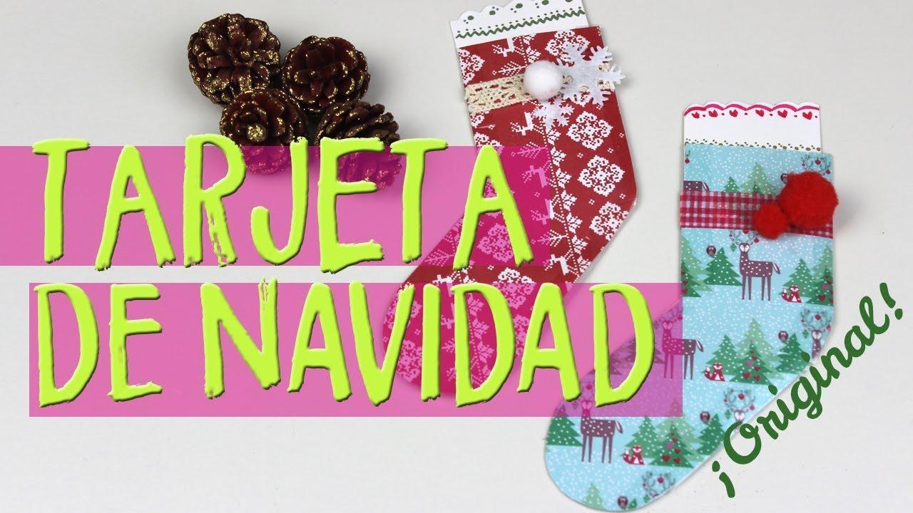 C mo hacer tarjetas de navidad hechas a mano de papel - Como hacer tarjetas de navidad faciles ...