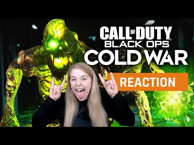 My Reaction To The Cod Black Ops Cold War Zombies Official Gameplay Trailer Gamedame Reacts Youtube