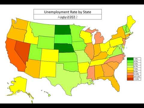 Map: Unemployment by State Jan 2006 to Oct 2017