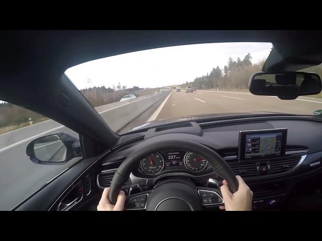 Porsche 911 Onboard POV Acceleration 991 Turbo C4S Autobahn 300 km