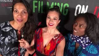 Entrevista con la actriz  Rosario Dawson y con Abrima Erwiah