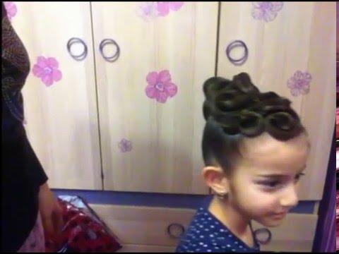 Как сделать прическу на сетках #2/How to make simple hairdo with nets #2