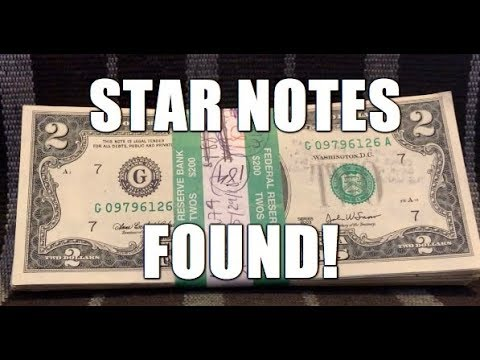 Hunting An Entire BEP Strap Of $2 Bills! Star Notes Found! $200.00