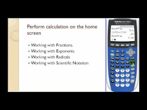 Graphing Calculator Basics