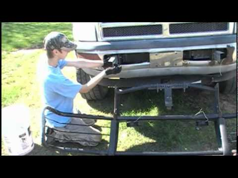 Build Your Own Ford >> Brush Guard Repair After Hitting a Deer - YouTube