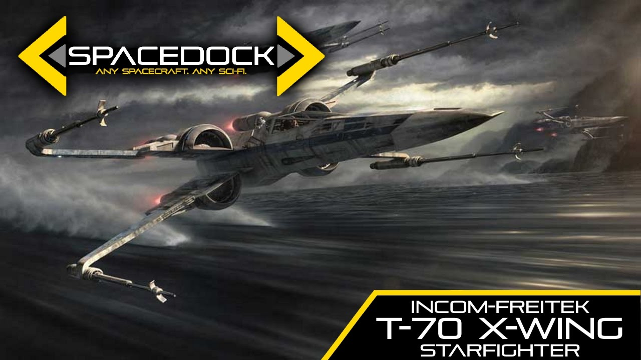 Star wars t 70 x wing canon spacedock youtube for Miroir 70 x 70