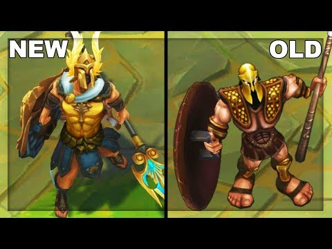 All Pantheon Skins Rework NEW vs OLD Texture Comparison (League of Legends)