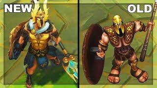 All Pantheon Skins Rework NEW vs OLD Texture Comparison (League of Legends)