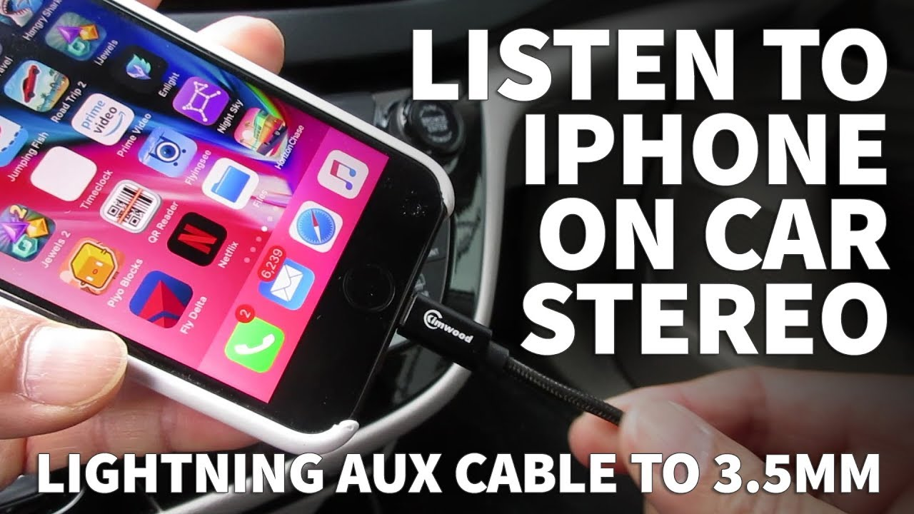 How To Connect Iphone 7 Car Stereo With No Headphone Jack Earphone Wiring Lightning 35mm Aux Cable