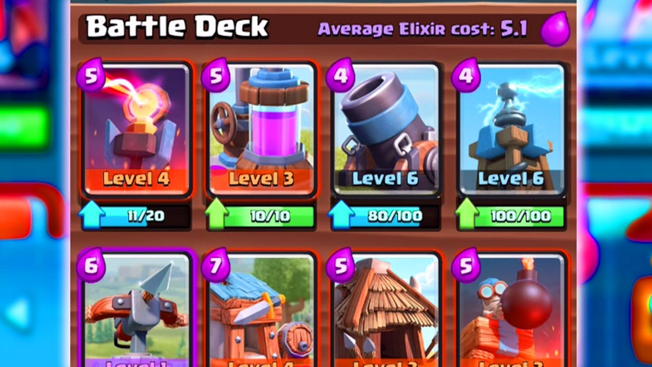 Deck builder clash royale for Clash royale deck molosse