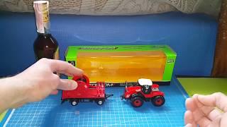 Обзор Автопром Трактор красный и повозка (не злоупотребляйте алкоголем)