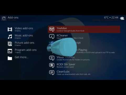 YeeMee - (Control Yeelight Smart Bulb + Ambi from Kodi)