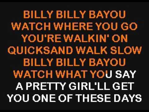 SC8392 11   Reeves, Jim   Billy Bayou [karaoke]
