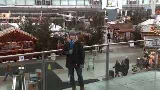 Auf dem Wintermarkt am Flughafen München