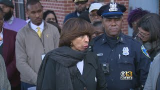 Baltimore Mayor Joins Community Members For Walk Against Crime