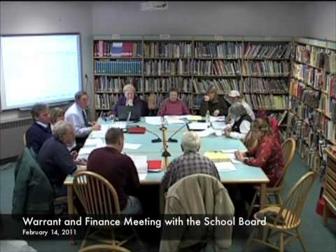 Warrant and Finance - School Budget - 02-14-2011