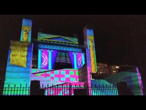El Palacio de Festivales ilumina Santander con un espectáculo de vídeo mapping