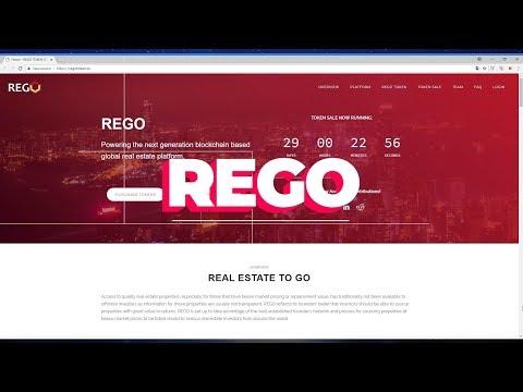 REGO: Платформа недвижимости на блокчейне