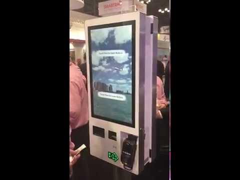 VisionMAX Application on Diebold Nixdorf Kiosk Hardware @NRFBooth2018 TicketKiosk