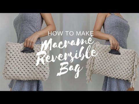 how-to-make-macrame-bag-|-03-macrame-reversible-bag-|-diy-handbag-tutorial-|habit-made