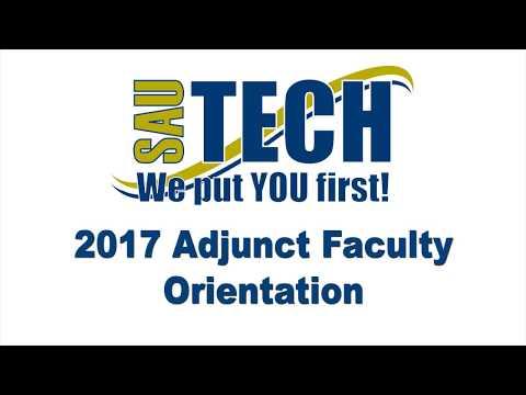SAU Tech Adjunct Faculty Orientation