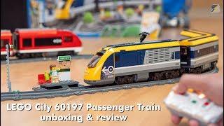 LEGO City 60197 Passenger Train unboxing & review