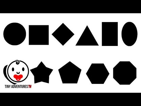 Shape Recognition | All Shapes (Black White Red) | Simple ...